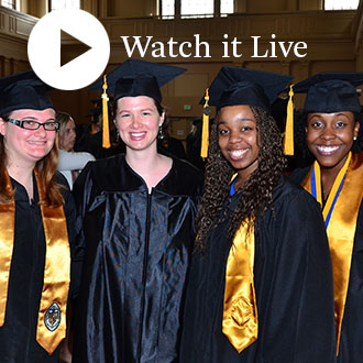 Watch the School of Nursing Degree Completion Ceremony live at 11 a.m. on Thursday, May 25, 2017.