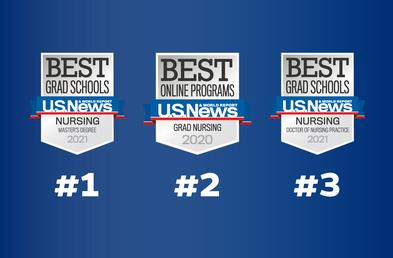 Johns Hopkins School of Nursing master's program ranked No. 1 by U.S. News & World Report.