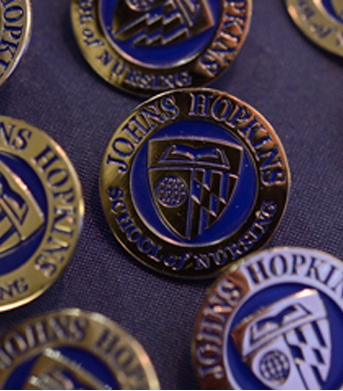 Johns Hopkins School of Nursing pins
