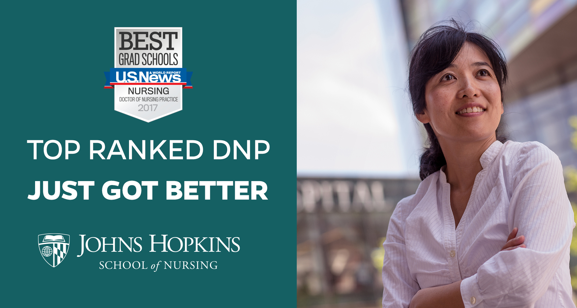 #2 Ranked DNP (Doctor of Nursing Practice) at Johns Hopkins School of Nursing Just got better.